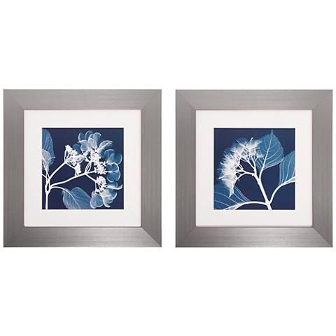 "Set of 2 Hydrangeas III/IV 22"" Square Floral Wall Art"