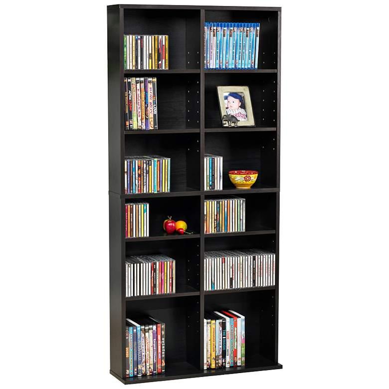 "Oskar 54"" High Espresso 464 CD Media Storage Cabinet"