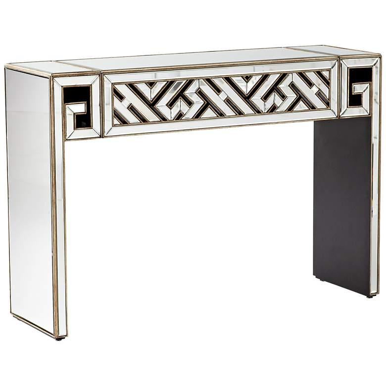 Deco Divide Mirrored Console Table