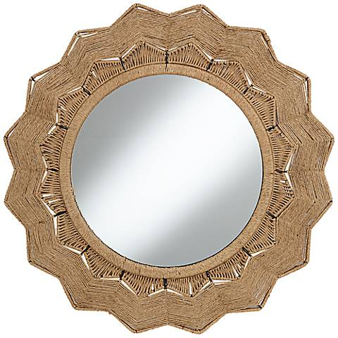 "Tenerife 31 1/2"" Round Sunburst Wall Mirror"