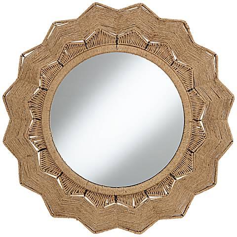 Tenerife 31 1 2 Round Sunburst Wall Mirror
