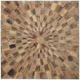 """Forestopia 31 1/2"""" Square Woodburst Wall Decor"""