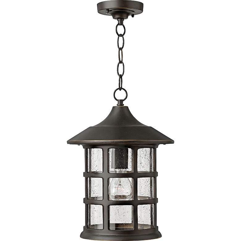 """Hinkley Freeport 14"""" High Bronze Outdoor Hanging Light"""