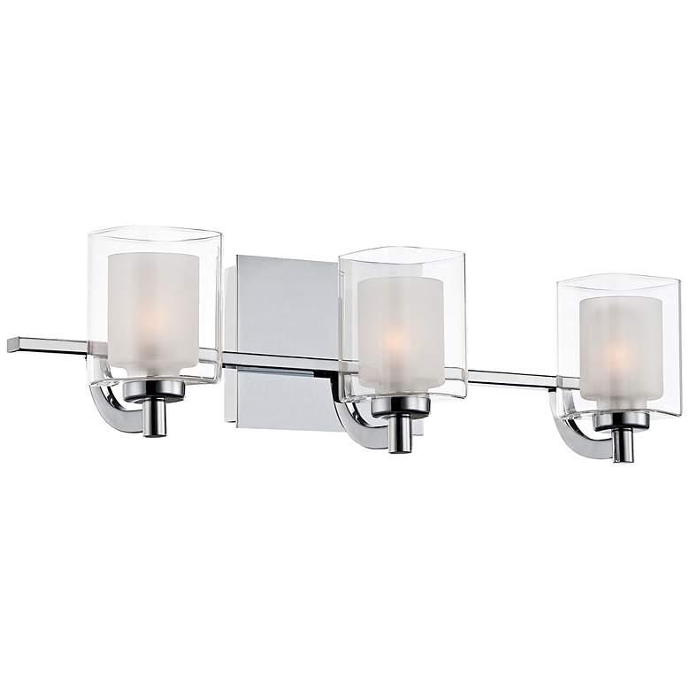 "Quoizel Kolt LED 21"" Wide Chrome and Glass Bathroom Light"