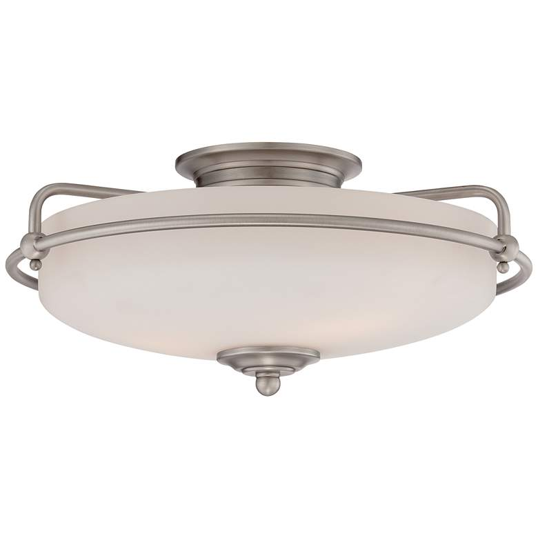 "Quoizel Griffin 17"" Wide Large Nickel Floating Ceiling Light"