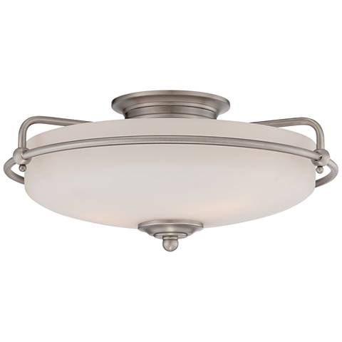 "Quoizel Griffin 17"" Wide Large Nickel Floating Ceiling Light"
