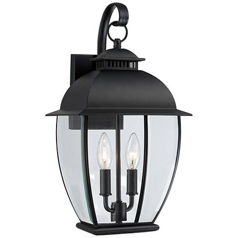 Quoizel Bain Mystic Black Medium Outdoor Wall Lantern
