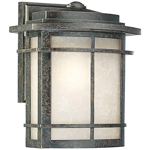 """Quoizel Galen Bronze 10"""" High Outdoor Wall Lantern"""