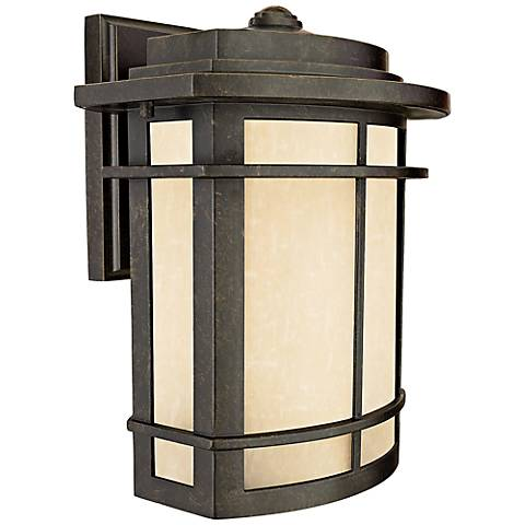 "Quoizel Galen Bronze 12"" High Outdoor Wall Lantern"