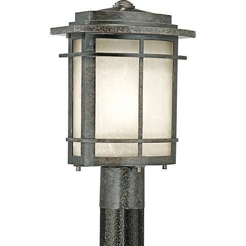 Quoizel Galen Bronze Large Outdoor Post Lantern