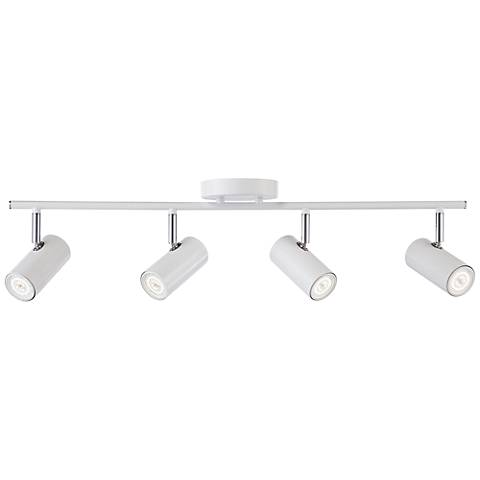 Galena 4 light matte white led track fixture 3t191 lamps plus galena 4 light matte white led track fixture aloadofball Images