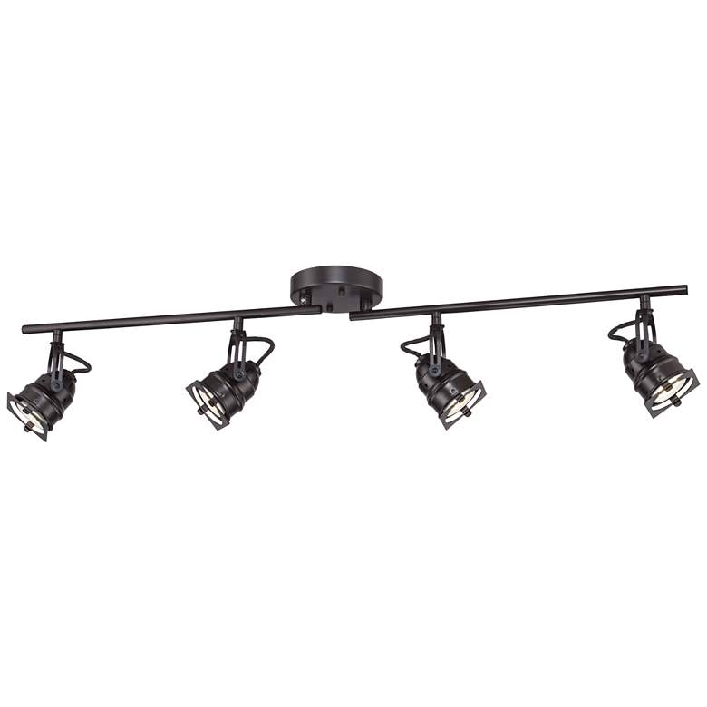 Hamilton 4-Light Swing Arm Bronze LED Track Fixture