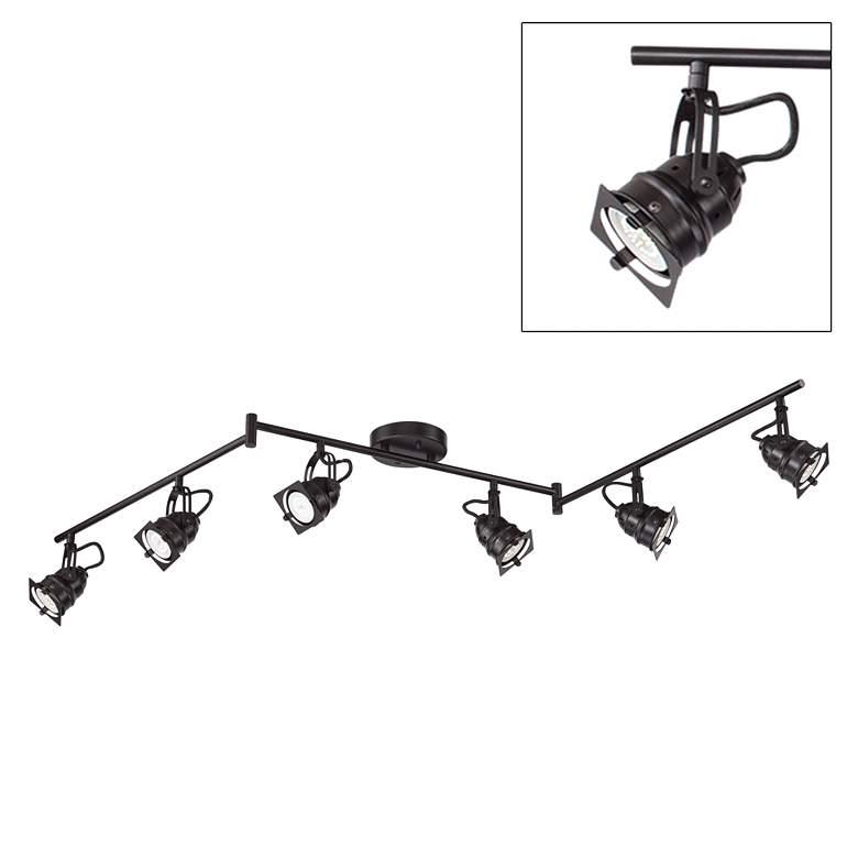 Hamilton 6-Light Bronze Swing Arm LED Track Light Kit