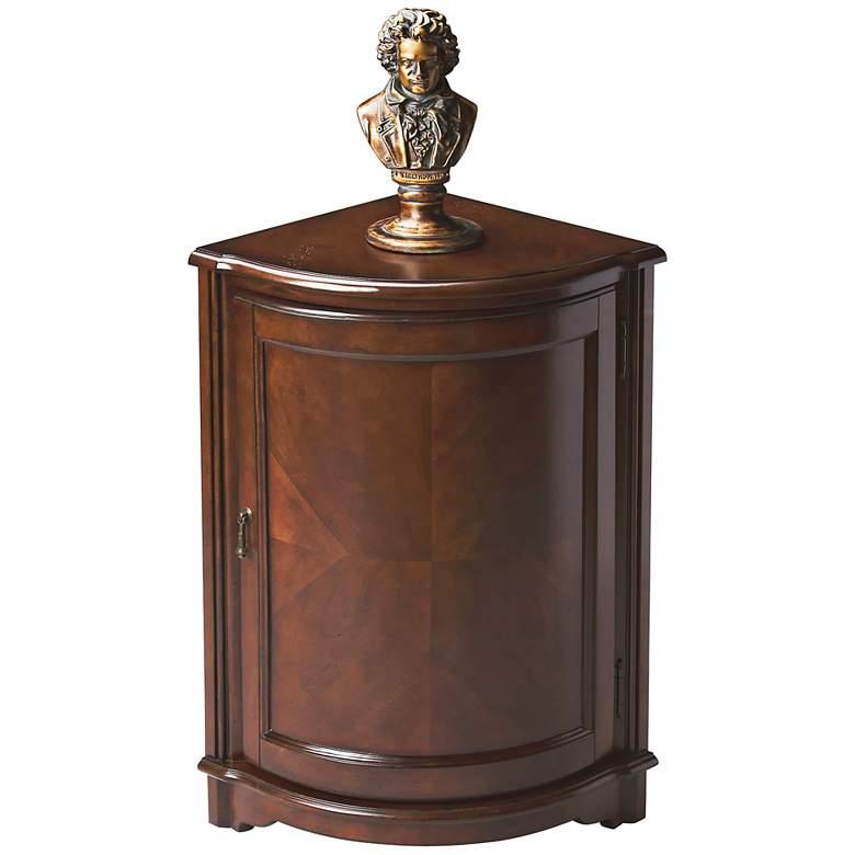 "Madison 20"" Wide Cherry Finish Corner Cabinet Table"