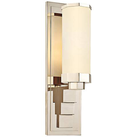 "Sonneman Scala 15"" High Polished Nickel Wall Sconce"