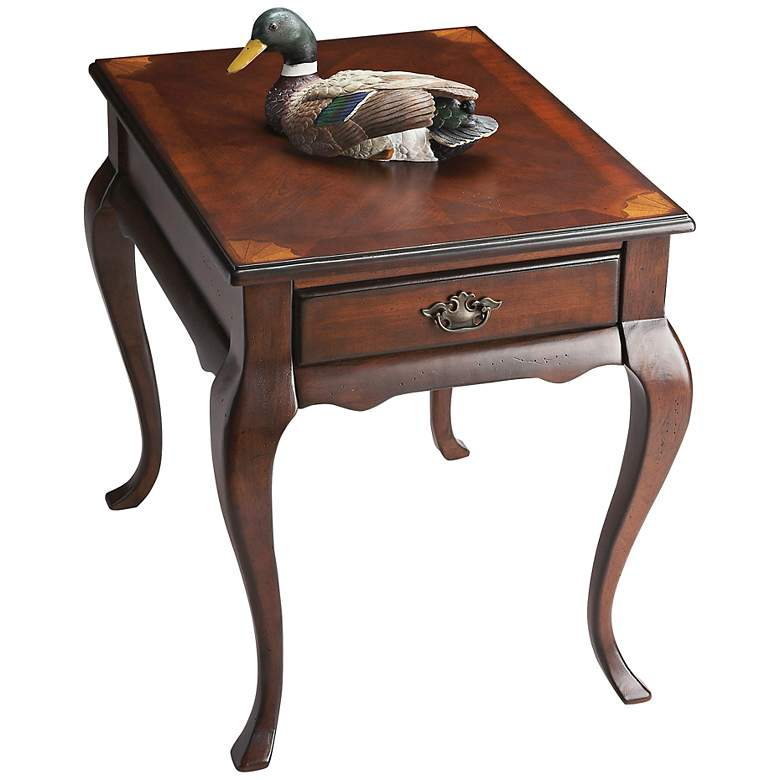 """Jackson 21"""" Wide Cherry Finish Traditional End Table"""