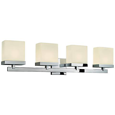 "Sonneman Cubist 32 1/2"" Wide Polished Chrome Bath Light"