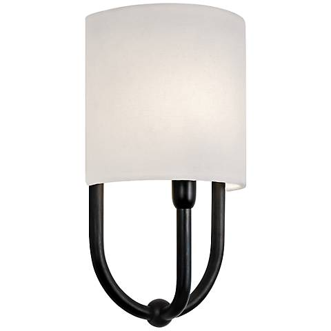 "Sonneman Intermezzo 7"" High Rubbed Bronze Sconce"