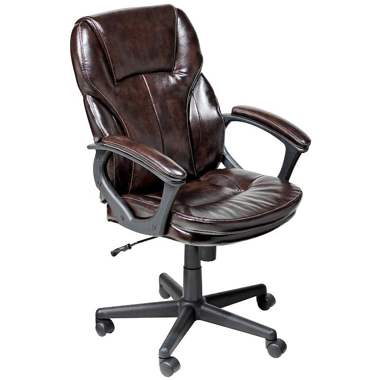 Serta Roasted Chestnut Faux Leather Office Chair