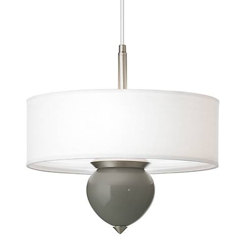 "Gauntlet Gray Cleo 16"" Wide Pendant Chandelier"