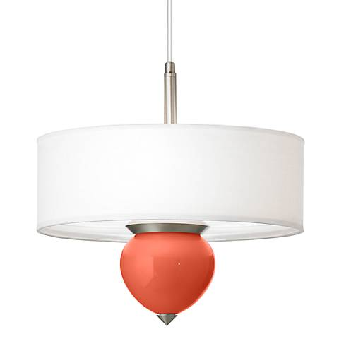 "Daring Orange Cleo 16"" Wide Pendant Chandelier"