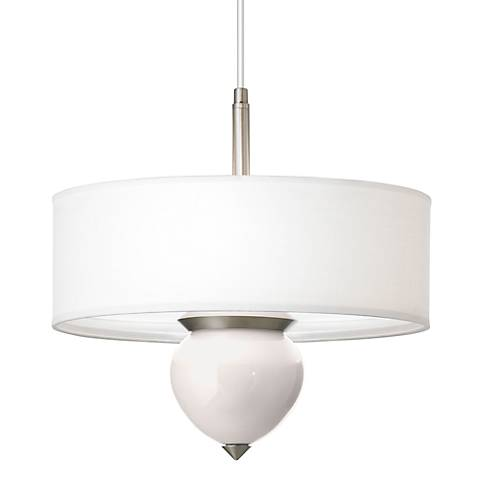 "Smart White Cleo 16"" Wide Pendant Chandelier"