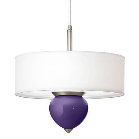 """Izmir Purple Cleo 16"""" Wide Pendant Chandelier"""