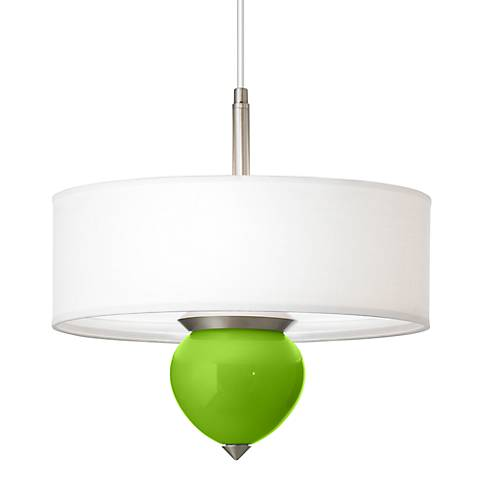 "Neon Green Cleo 16"" Wide Pendant Chandelier"