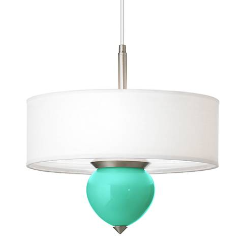 "Turquoise Cleo 16"" Wide Pendant Chandelier"