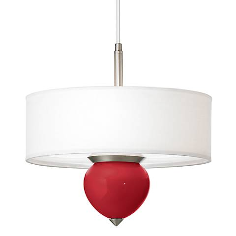 "Ribbon Red Cleo 16"" Wide Pendant Chandelier"