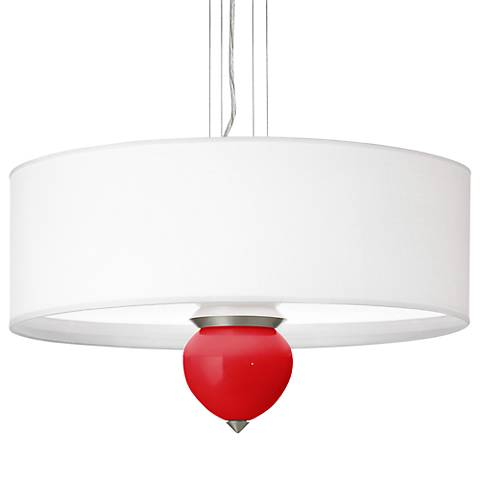 "Bright Red Cleo 24"" Wide Pendant Chandelier"