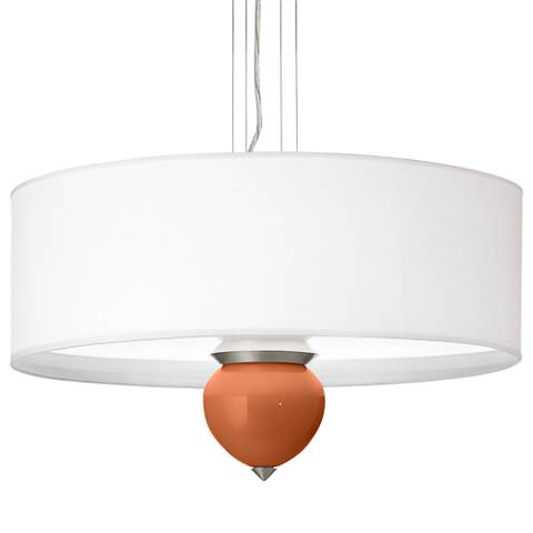 "Robust Orange Cleo 24"" Wide Pendant Chandelier"