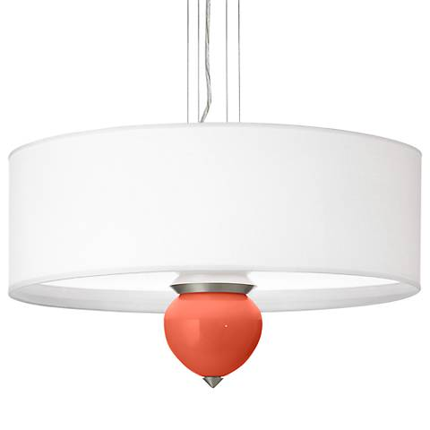 "Daring Orange Cleo 24"" Wide Pendant Chandelier"
