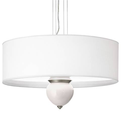 "Smart White Cleo 24"" Wide Pendant Chandelier"