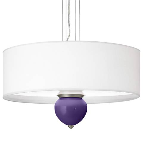 "Izmir Purple Cleo 24"" Wide Pendant Chandelier"