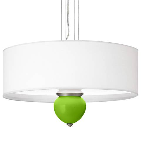 "Neon Green Cleo 24"" Wide Pendant Chandelier"