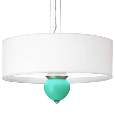 "Turquoise Cleo 24"" Wide Pendant Chandelier"