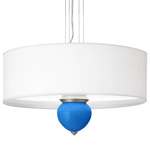 "Royal Blue Cleo 24"" Wide Pendant Chandelier"