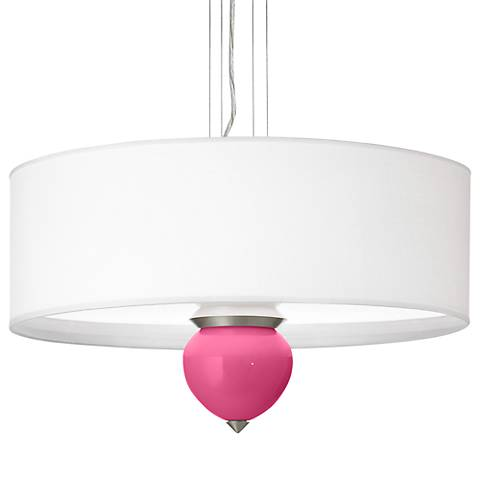 "Blossom Pink Cleo 24"" Wide Pendant Chandelier"