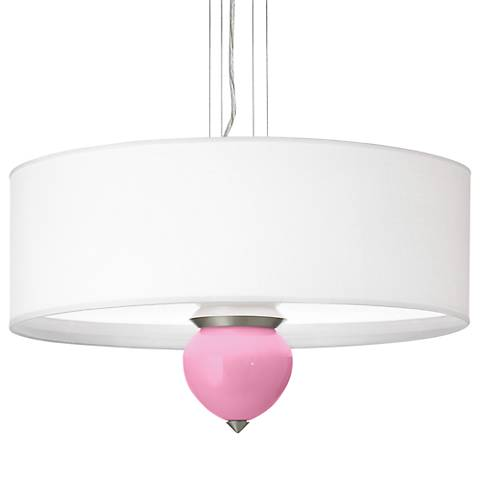 "Pale Pink Cleo 24"" Wide Pendant Chandelier"