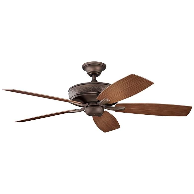 """52"""" Kichler Monarch II Patio Weathered Copper Ceiling Fan"""