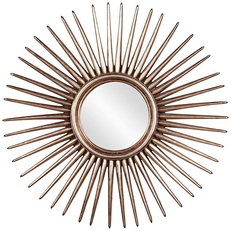 "Howard Elliott Cascade 32"" Sunburst Round Wall Mirror"