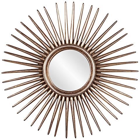 "Howard Elliott Cascade Sunburst 32"" Round Wall Mirror"
