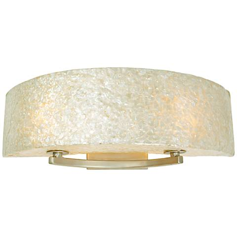 "Varaluz Radius 23"" Wide Capiz Shell Bath Light"