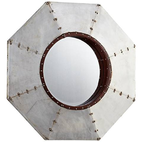 "Octo 24"" High Metal Wall Mirror"