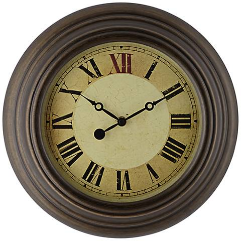 "Dixon 13"" Round Metal Wall Clock"