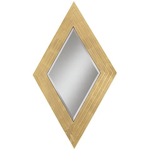 "Carraway Gold Diamond 27 1/4"" x 47 1/4"" Wall Mirror"