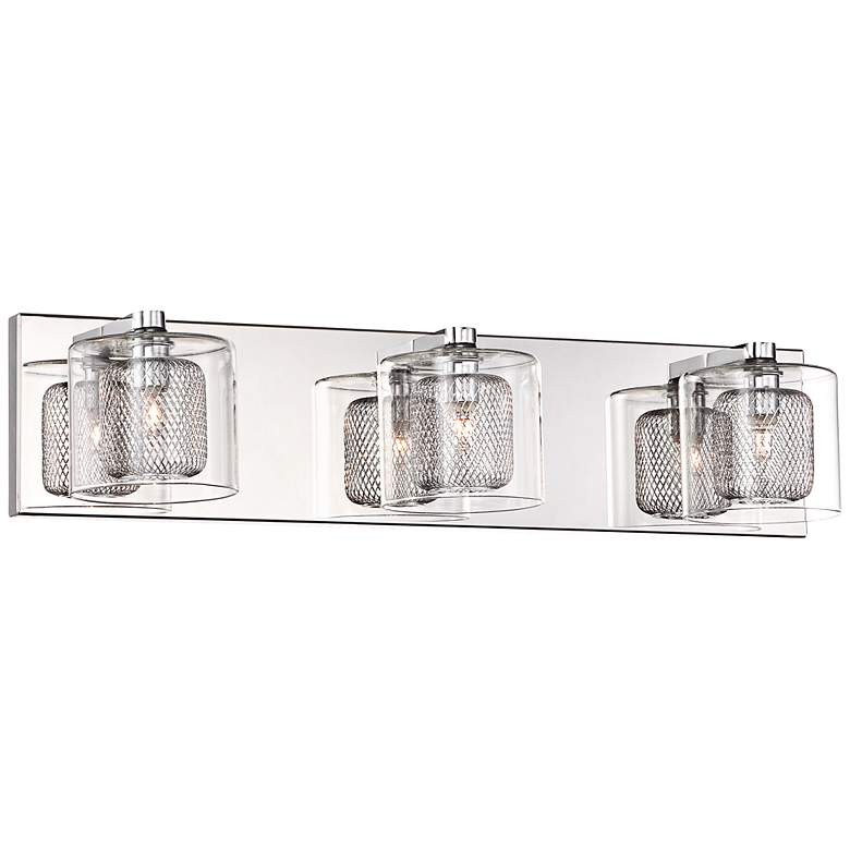 "Possini Euro Design Zatara 20 1/2"" Wide Chrome Bath Light"