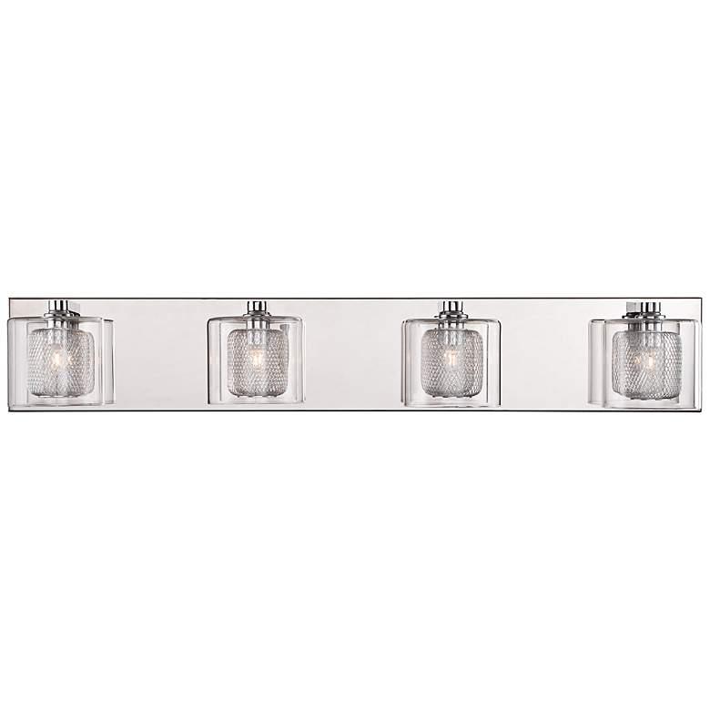 "Possini Euro Design Zatara 28 1/2"" Wide Chrome Bath Light"