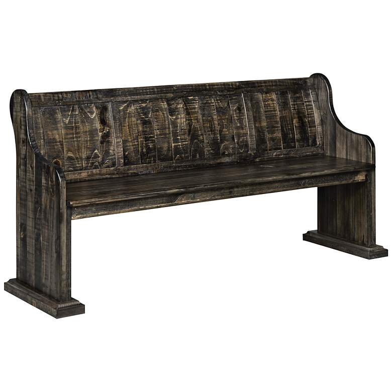 Bellamy Deep Weathered Pine Bench